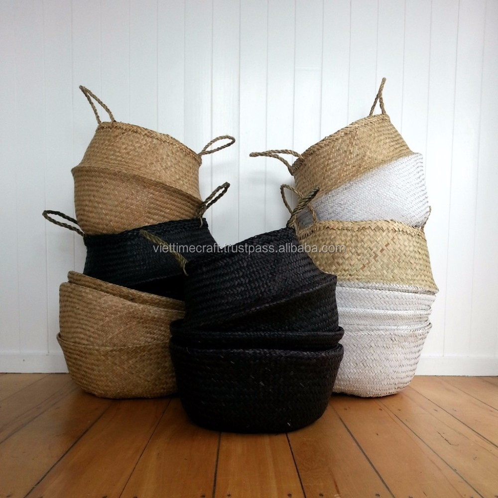 Natural Seagrass Rice Basket / Seagrass Belly Basket
