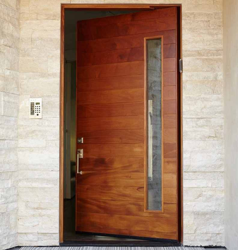 american modern villa exterior front entrance doors with