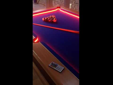 Bar Billiard Pool Table Bumper LED RGB Color Changing Lights