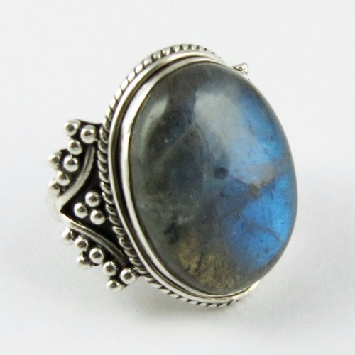 Excellent Labradorite 925 Sterling Silver Ring, 925 Silver Jewellery, Indian Silver Jewellery