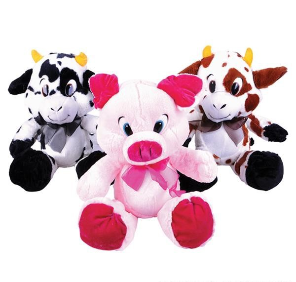 "19"" BUMPKINS PIG & COW PLUSH MIX"