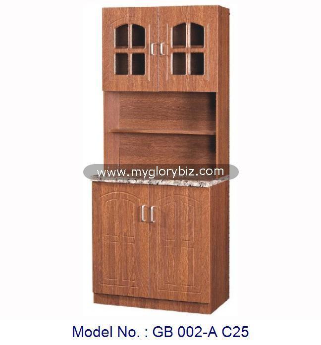 Desain Sederhana 2 Pintu Kabinet Dapur Untuk Ruang Makan Dalam Rumah Mebel Lemari Modular