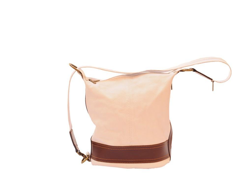 a88052a7c Cubo mochila monedero transformable en bucketbag bolsos italiano cuero  genuino Florencia moda de cuero