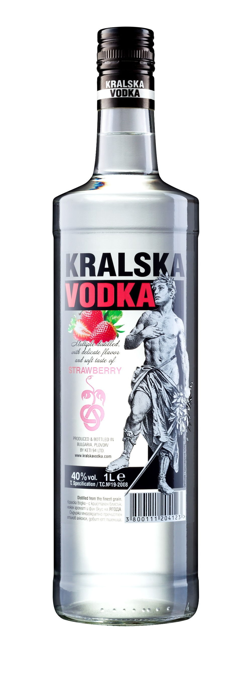 Vodka - Strawberry Flavored - 40% Abv - 1l. - Buy Flavored Vodka,Vodka ...