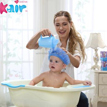 Protective Baby Shower Cap /baby Bathing Cap /baby Shampoo Hat - Buy ...