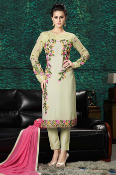 Hyderabad Special Georgette Embroidered Pakistani Salwar Kameez