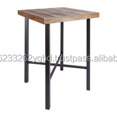 Iron Bar Table / Iron And Wooden Bar Table / Rustic Wood Table