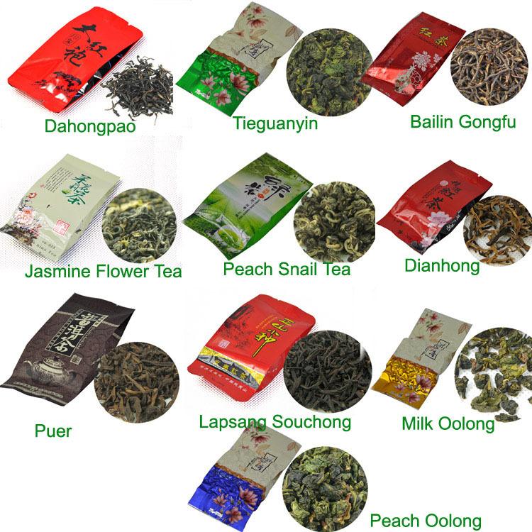 10 Kinds Flavours Tea Including Oolong Tea Black Tea Green Tea
