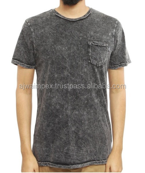 Rock Style Or Black Colors Acid Wash T Shirt For Men - Buy Vintage ...