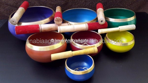 """Tibetan Singing Bowl"" With In Side OM : Wholesale Tibetan Singing Bowl With Cushion"