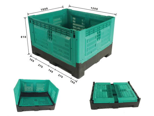 Australian Heavy Duty Collapsible Plastic Pallet Box For