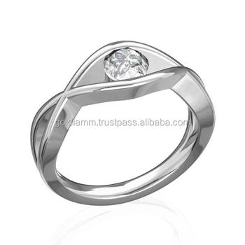 Nice Handmade Wedding Ring Engagement With Diamonds 0 3 Ct Special Design Made 14k Gold