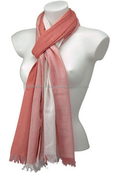 Cotton Salmon Scarves CS3005