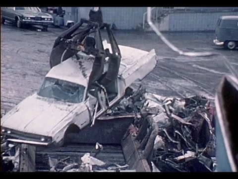 Crushing Cars - Car Demolition 1960s - Auto Salvage - Classic Cars to Scrap