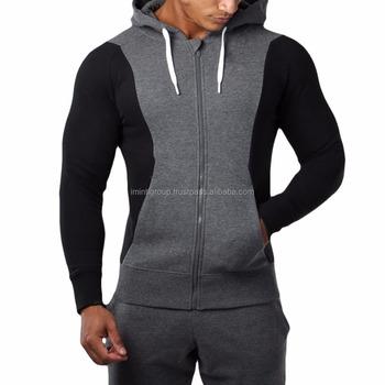 a7e2e5a14c7c58 Men s Workout Full Zip Hoodie Gym Sweatshirts with Zipper Pockets Jackets  IM.2134