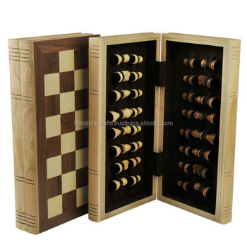 Elegant personalized chess set like a book, wooden chess set, chess game