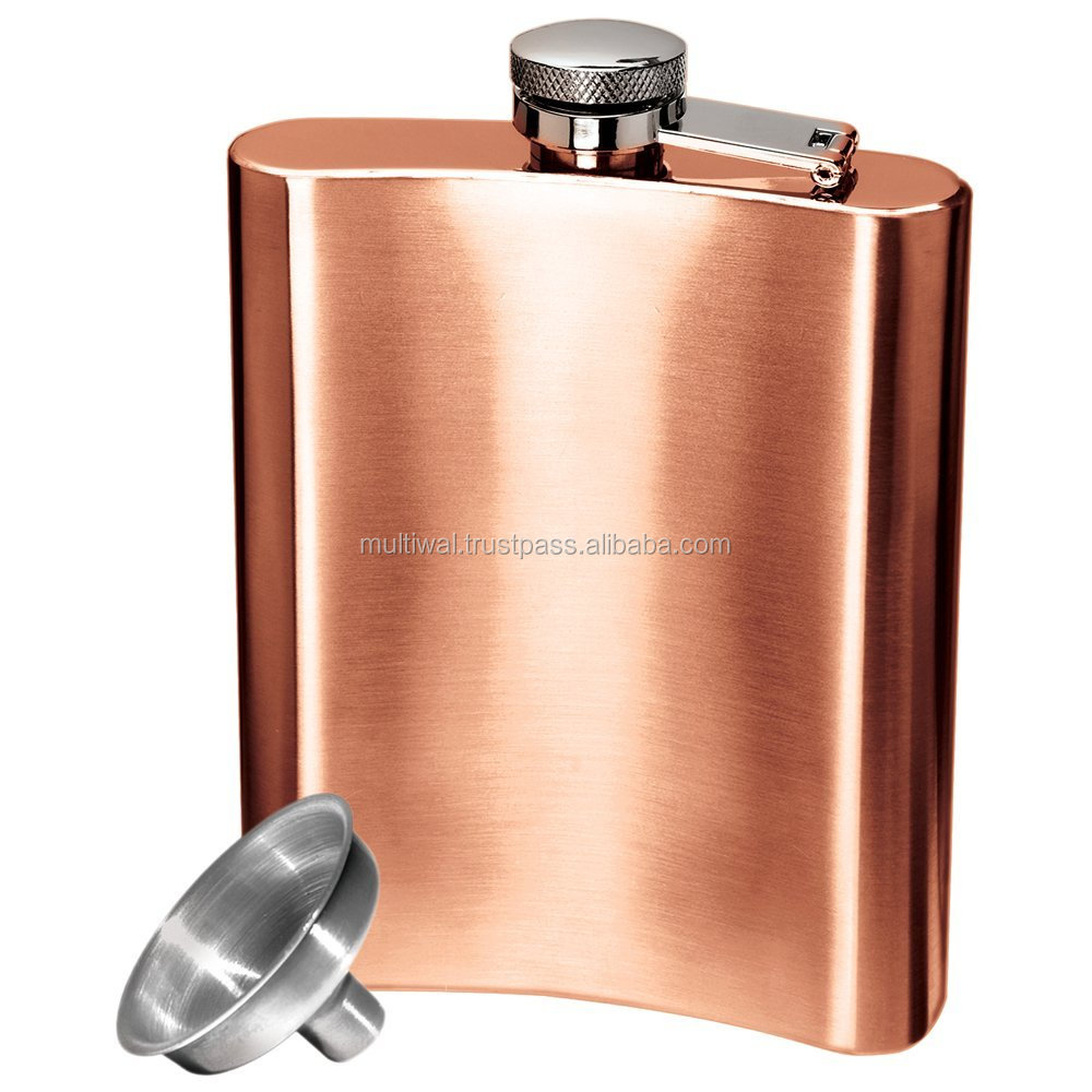 Copper Hip Flask / Wine Flask / Whisky Flask, Copper Hip Flask ,Pure Copper Drinking Hip Flask