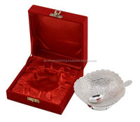 Lovely Designer Hand Carved White Metal Bowls Set For Wedding ...
