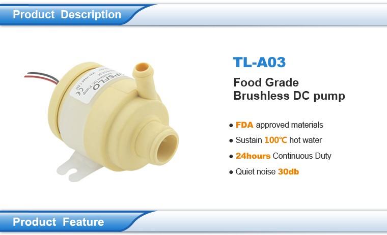 12v Dc Brushless Mini Iced Tea Maker Pump