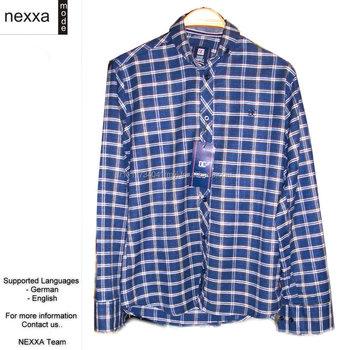 f2a95a39f Mens Shirts Flannel Cotton Uni Square Stripes Classic Casual High Quality  Hemden Wholesale FL2