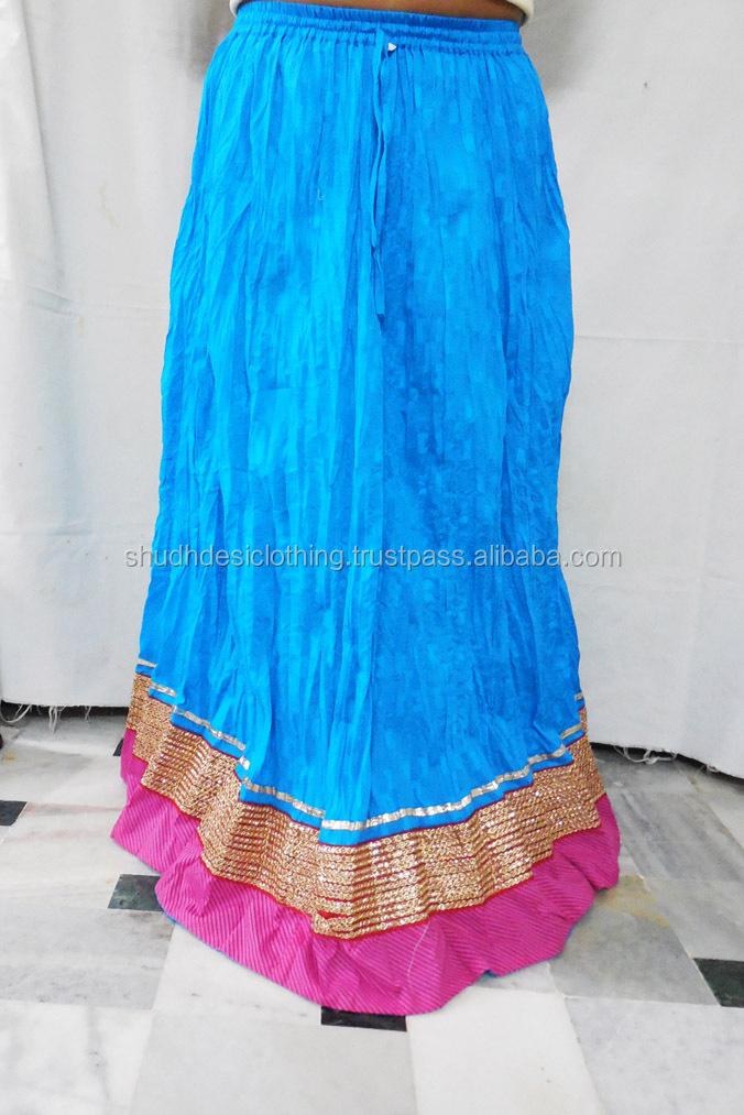 Buy Latest Design Pure Cotton Skirt/ Designer Long Skirt ...