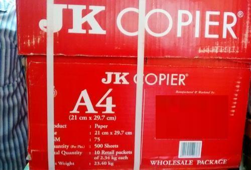 Jk Copier Paper - A4,500 Sheets,75 Gsm,1 Ream