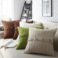 New Quality Knitted Cushion Home Decor Knitted sofa throw pillow cushion 45x45cm