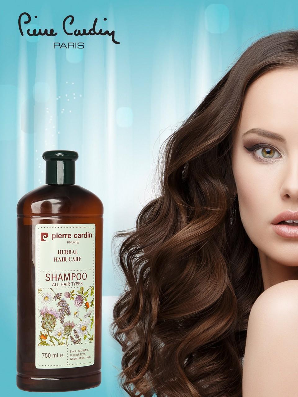 Pierre Cardin Diperkaya Dengan Vitamin Herbal Shampoo Perawatan