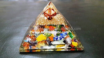 Mix Gemstone Star Orgone Pyramids: Wholesale Reiki Healing Orgone Pyramids From India