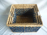 New Ecofriendly, water hyacinth storage tray, food tray, serving tray, cheap price, made in Vietnam set of 2