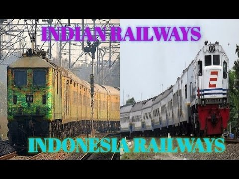 Indian Railways Vs Indonesia Railways Compilation ||FULL COMPARISON|| [ HD 720P ]
