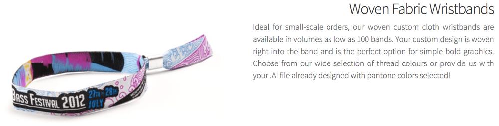 Event Cheap Custom Fabric Wristbands   Fabric Wristbands
