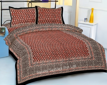 Indian Printed Cotton Bed Sheets Traditional Print Bedspreads