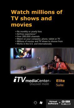 Itvmediacenter Elite Suite - Buy Tv Shows Movies Itv Media Center Player  Free Software Cd-rom Pc Windows Android Tablet Phone Watch App Application