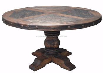 Tavolo Da Pranzo Rotondo : Antico rigenerata riciclato riutilizzare in legno massiccio tavolo