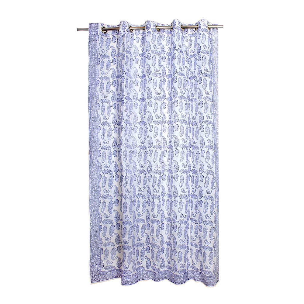 100% Cotton Window Door Curtain Drapery for Living Room Bedroom drapes Home Decor Accents (213 x 152 cm)