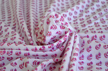 Indian Fabric Manufacturer 100% Cotton Block Print Fabric Soft Voile Fabric Supplier