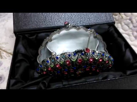 Peacock Crystal Wedding Clutch Bag for Evening Party Wedding Purse Bag UK Sale