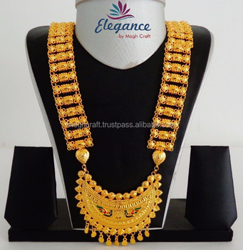 South Indian Chandelier Shape Bridal Gold Plated Jewelry