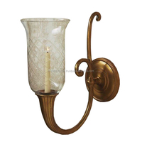 Antique Brass Wall Sconce Modern Art Candle Holder