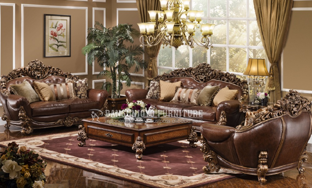 Solid Wood Hand Carving Sofa Set