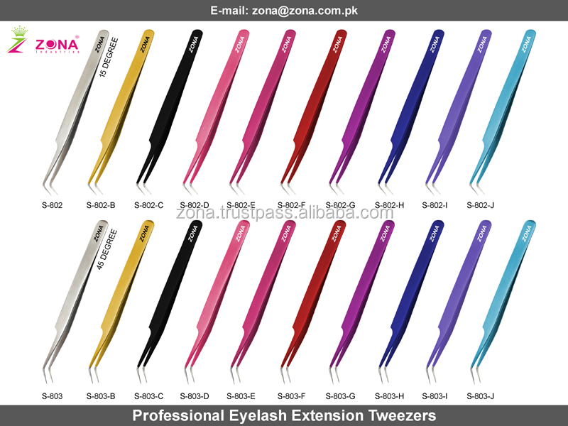 Eyelash Extension Tweezers / Diamond Grip Lashes Tweezers / Ultimate Grip And Precision Tweezers