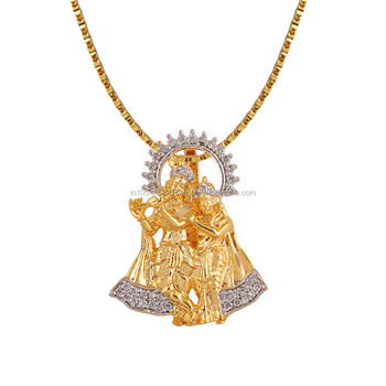 Fashion or imitation jewellery in cz or ad stones gold plated indian fashion or imitation jewellery in cz or ad stones gold plated indian god or idol pendant aloadofball Image collections