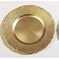 iron cast brass plated charger plates