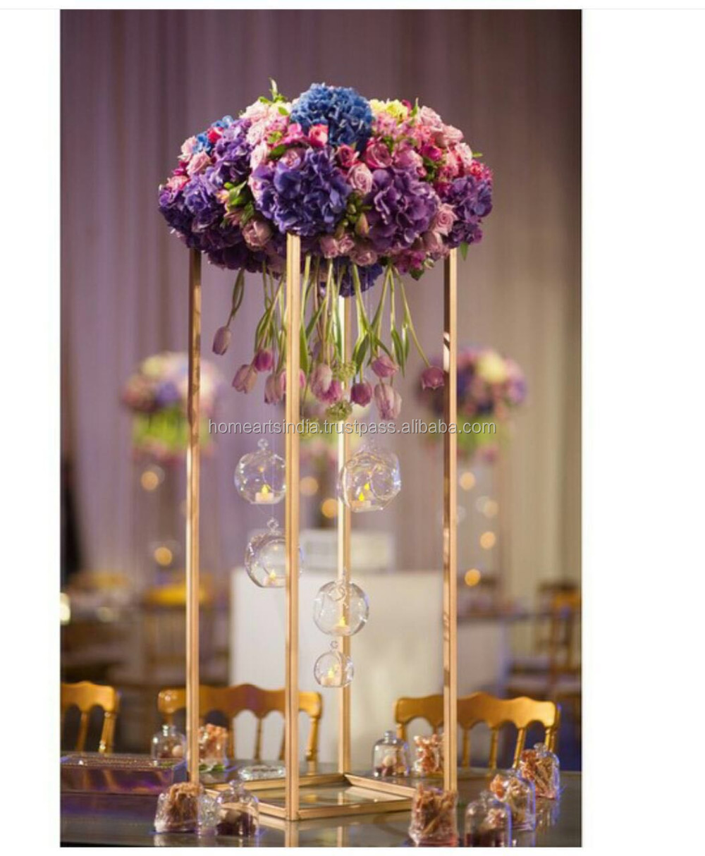 Tall Wedding Table Centerpiece Candelabra With Flowers