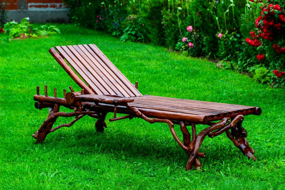 Rustic Wooden Lounge Chair Sunbed Outdoor Garden Furniture - Buy Wooden  Lounge Chair Product on Alibaba.com