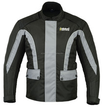 Men's Grey/Black Motorbike textile jacket