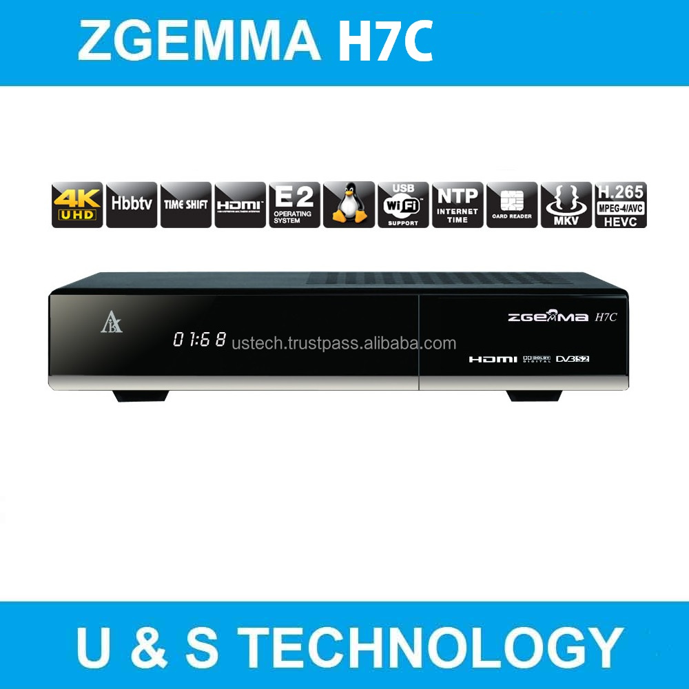 New Multistream 4K UHD product Zgemma H7C DVB-S2X+2*DVB-T2/C zgemma satellite receiver