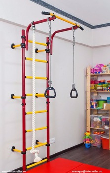 Comet next kids indoor home gym swedish wall pullup rings