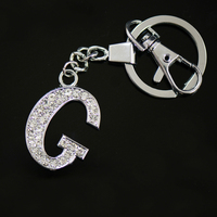 Diamante Letter G Keyring, fancy key rings for sale